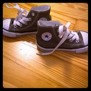 Gray Converse high tops
